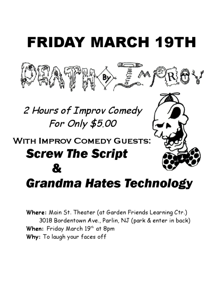 March 19 DBI with Guests Screw the Script and Grandma Hates Technology!